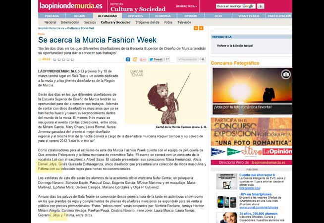 Dosier Prensa 2012 la Opinion de Murcia
